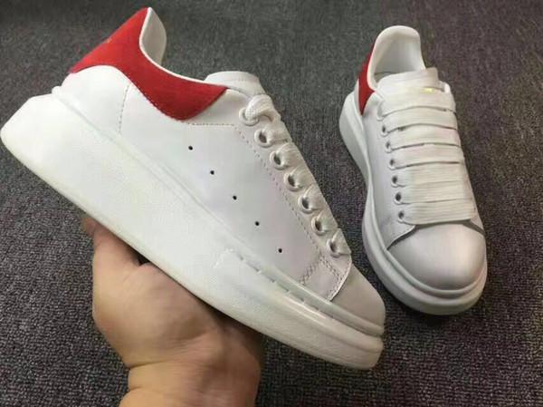 Hombres Clásico Cuero Genuino Arena Marca Pisos Zapatillas de deporte Hombre Low Top Shoes Moda de Lujo Casual Lace Up Shoes 35-45 108606