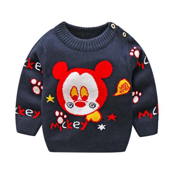 BibiCola Children 2018 Sweaters For boys Girls Cotton O-Collar Cartoon fashion baby sweaters Autumn Winter kids Clothing