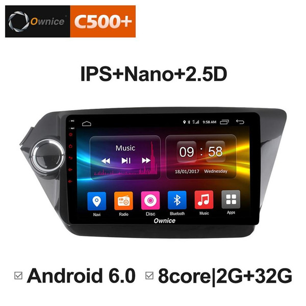 """9"""" 2.5D Nano IPS Screen Android Octa Core/4G LTE Car Media Player With GPS RDS Radio/Bluetooth For KIA K2 2012-2015 (RIO) #3833"""