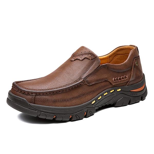 Hakiki Deri erkek Rahat Ayakkabılar Loafer Tasarım Sürüş Erkekler Düz Ayakkabı Erkek Moccasin Ayakkabı Üzerinde Kayma Iş Resmi