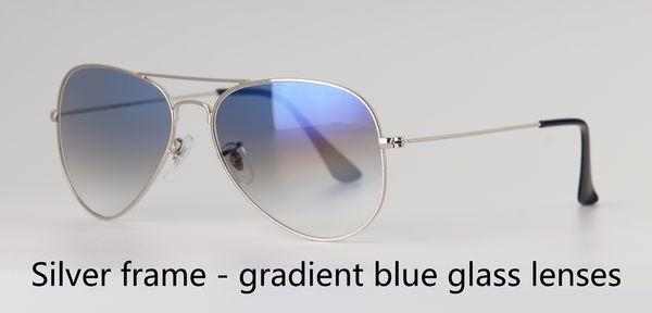 серебро градиент от синего