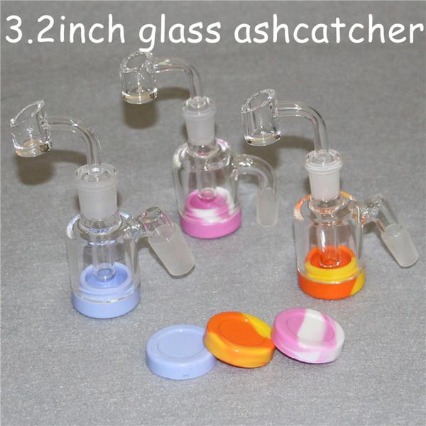 Hot Glass Ash Catcher 14mm 18mm 3.2 Inch Mini Glass Bong Ash Catchers Thick Pyrex Clear Bubbler Ashcatcher 45 90 Degree