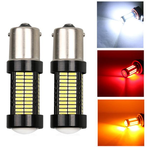 2pcs P21W LED 1156 BA15S LED Bulbs Car Lights 1200Lm Turn Signal Reverse Brake Light 108 SMD R5W 4014 LEDs 12V Automobiles Lamp