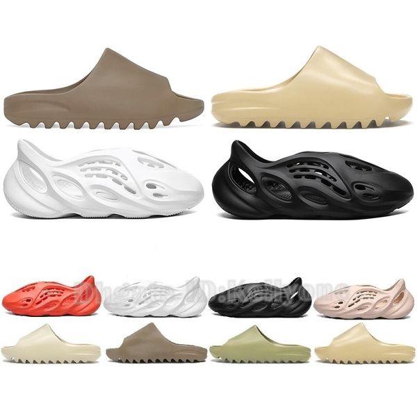 top popular 2020 Newest Top Bone Earth Mens 450 Slippers Foam Runner Desert Sand Resin Beach Women Men Slides Slipper Sandal Sandals 36-45 2021