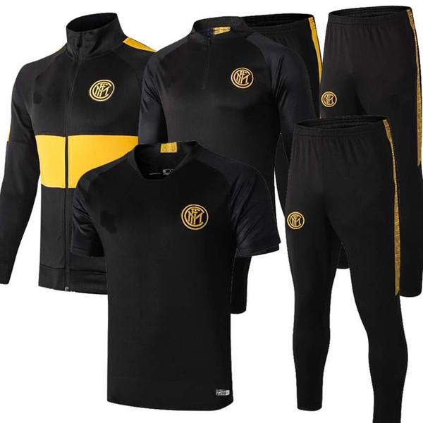 2019 2020 INTER futbol eşofman ceket kitleri 19/20 Survetement ICARDI CANDREVR eğitim takım elbise futbol eşofman ceket veste set
