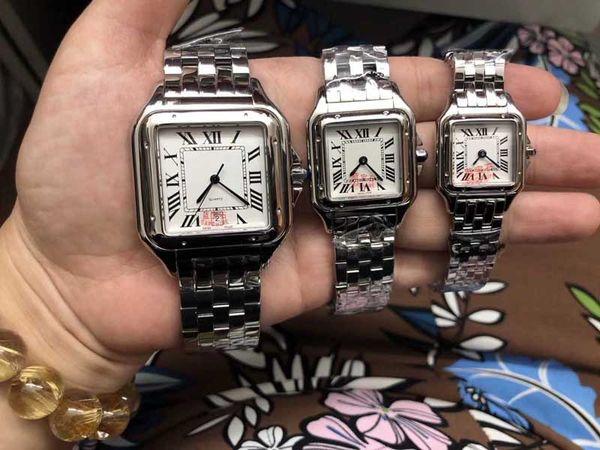 3 tailles Montre-bracelet à quartz en argent montre en or pour femme Montre-bracelet pour femme en acier inoxydable Montre Femme 2019