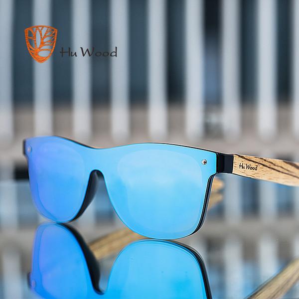 Hu bois marque vintage style lunettes de soleil hommes lentille plate Rimless cadre carré femmes lunettes de soleil mode Oculos Gafas Gg 8021-1 MX190723