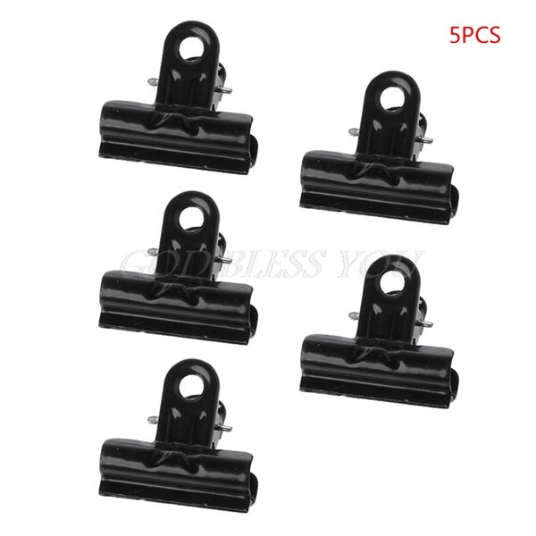 5PCS Black Metal Binder Clips File Paper Clip Photo Stationary Office Supplies