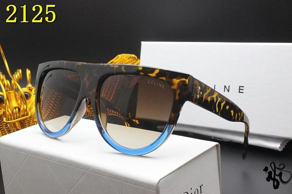 Brand Designer Sunglasses High Quality Metal Hinge Sunglasses Men Glasses Women Sun glasses UV400 lens Unisex with cases and box 618-12