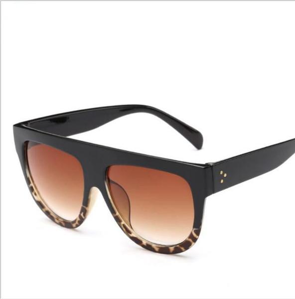 best selling Big Frame Leopard Sunglasses Women Men Gradual Lens Lady Sun Glasses Big Classic Retro Outdoor drive sunglasses LJJK1555