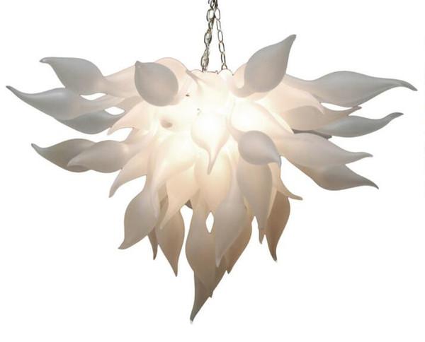Artistic White Murano Chandelier Light China Supplier Cheap Hand Blown Glass Chandelier for Art Decor LED Bulbs