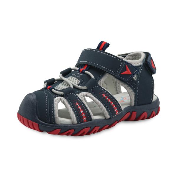 Europe et les États-Unis été bébé garçon Casual chaussures PU caoutchouc chaussures de plage Chaussures Toe Toe Ankle-Wrap enfants