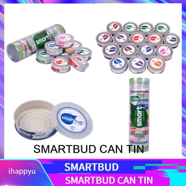 SmartBud 15 Sabores SmartBud Máquina Sellado Latas selladas 3.5 gramos Flor de hierba seca de tanque de yema inteligente Empaquetado con 15 etiquetas adhesivas de sabor Lables
