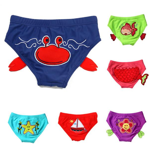 2019 çocuk mayo sevimli bebek Bebek Bebek Erkek Kız Çocuk Yüzme Sandıklar Karikatür Baskılı Pantolon Mayo tek parça mayo