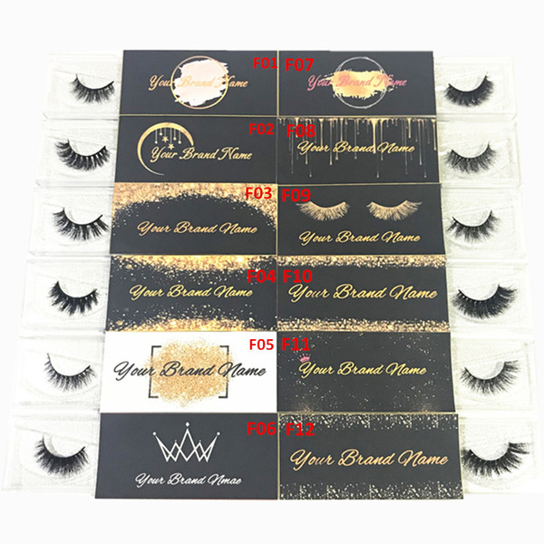 Mink Eyelash Customized Label and Designs for Private Sticker Logo (Used for Mink Lashes Natural 3D Mink Eyelashes False Lashes)