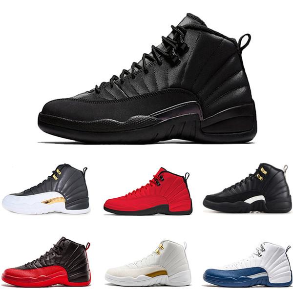 Rote Drop Blau 12 Sportschuhe Turnschuhe Athletic Basketballschuhe Master Wntr Mann Schuh Sneaker Französisch Großhandel Xii Outdoor 12s Herren Gym PXikZu