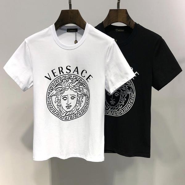 2019 Moda T Camisas Para Homens E Mulheres Perfeito Impressão de Algodão Puro E Mangas Curtas T Camisas 6267 #