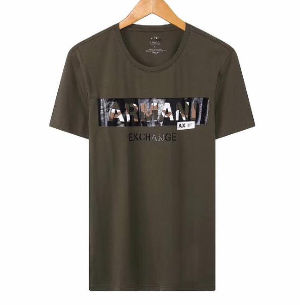 NEW top mens designer tshirt AX brand t shirt EXCHANGE luxury shirts camouflage letter print t-shirt fashion summer tees comfort cotton tee