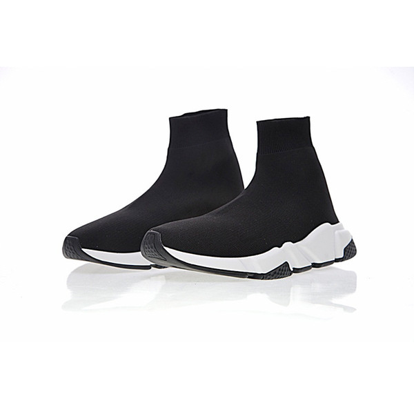 2018 дизайнеры Обувь Тренер Марка Буле черный белый красный Плоские Модные мужские женские носки Кроссовки модные Кроссовки Кроссовки размер 36-45