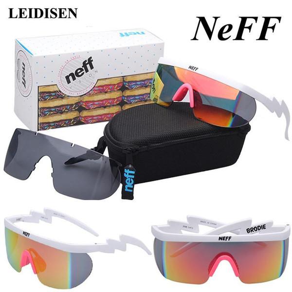 상자 패션 NEFF 선글라스 남성 여성 브랜드 디자이너 태양 안경 운전 거리 안경이 렌즈 Oculos 드 솔 Feminino의 D18101302로