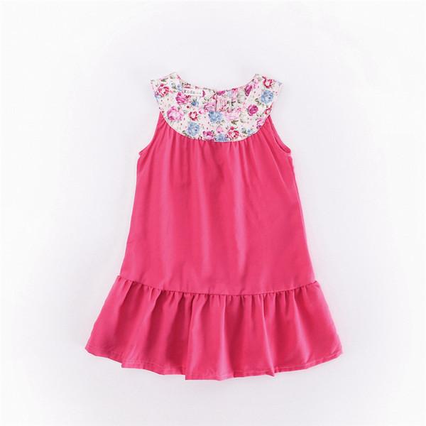 Vestido floral meninas verão novas crianças princesa vestido ins petticoat rosa vermelho roupas infantis