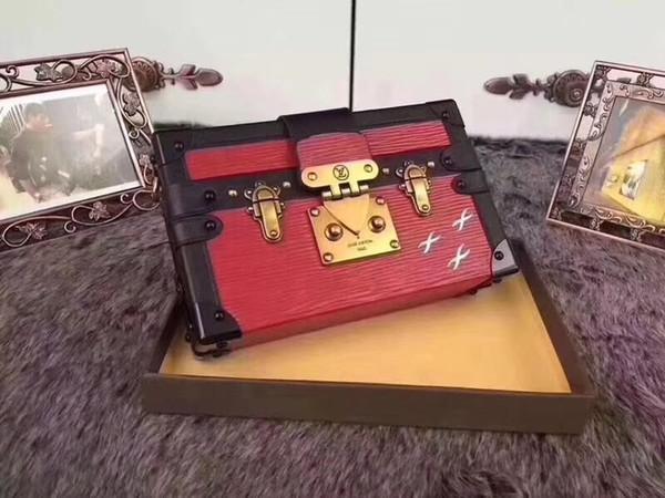 # 655 Luxe 5A L Plaid V Mode Sacs de soirée Petite acrylique bourse d'embrayage soir sac Vintage Femmes sac en cuir Boîte de coffre