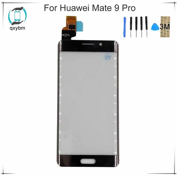 """New 5.5"""" Black White Gold For Huawei Mate9 Pro Mate 9 Pro Mobile Phone Touch screen Panel Glass Display Parts with 3M Sticker"""
