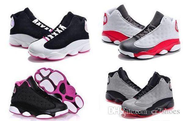 Vente En Ligne Pas Cher Nouveau 13 Enfants Chaussures De Basketball Pour Garçons Filles Sneakers Enfants Babys 13s Chaussure De Course Taille 11c-3y