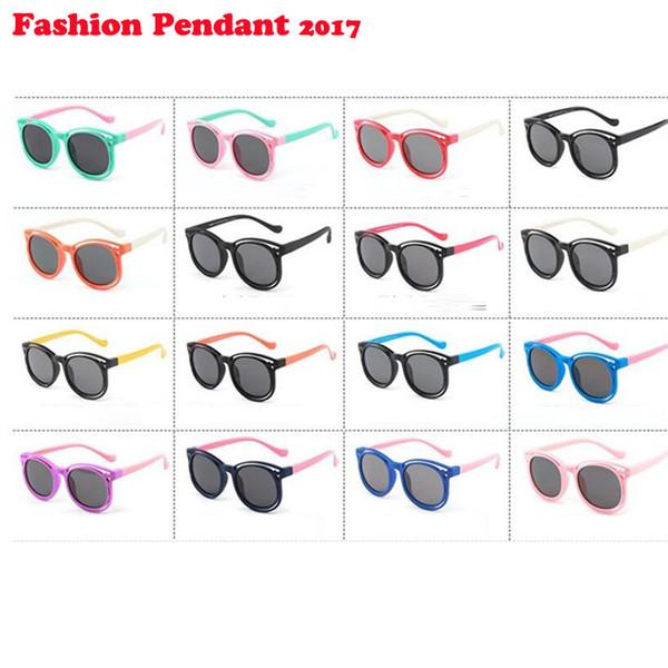 50pcs Polarized Kids Sunglasses Boys Girls Silicone Safety Sun Glasses Gift For Children Baby UV400 Gafas dhl shipping