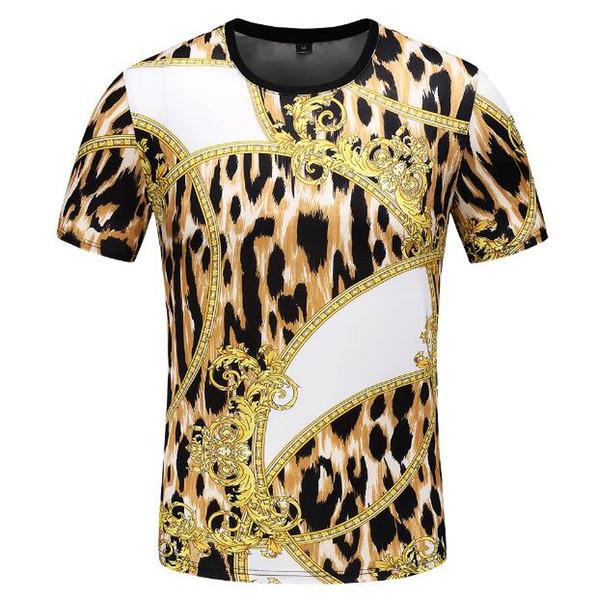 2019 nuovo Designer Mens Brand T-shirt Moda Estate fiori medusa stampa a colori leopardo Casual barocco T shirt a manica corta Tee Top Tshirt