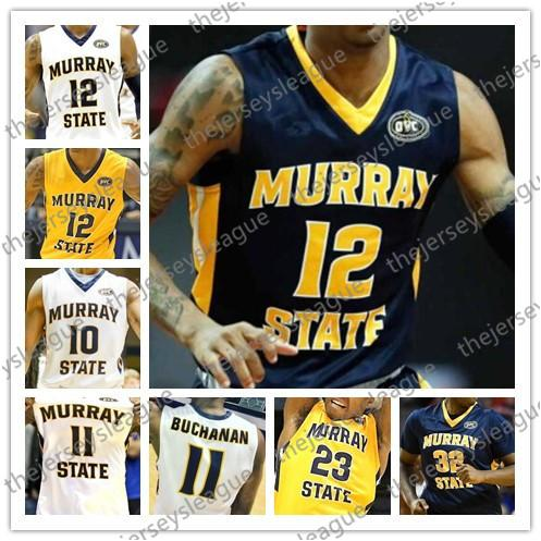Murray State Racers Custom Any Name Number Stitched Blue Yellow White NCAA College Basketball Jersey S-4XL #12 Ja Morant 0 Mike Davis