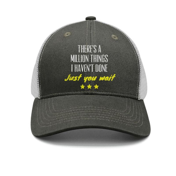 Hamilton thing army-green mens and womens trucker cap ball cool custom sports hats