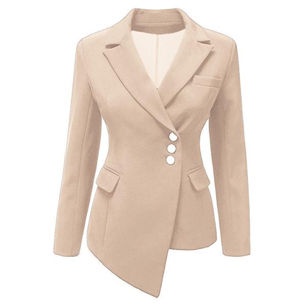 Donna Donna Blazer Manica lunga irregolare Slim intaglio corto Cappotto Lady Business Work Suit Abiti femminili Taglie forti