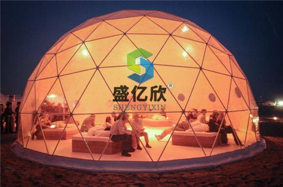 30m Diameter Large Outdoor Tent Waterproof Geodesic Dome Tent With PVC Cover Outdoor dome party tents, event tent, fire resistant shelter