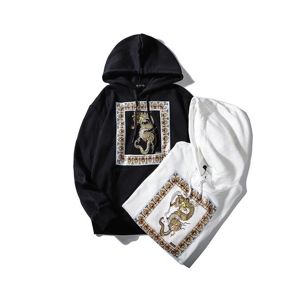 2020 nuove donne degli uomini del progettista con cappuccio Autunno Marca Felpa uomo Marca cappuccio maniche lunghe maglione Drago Stampato Mens Abbigliamento B100372K