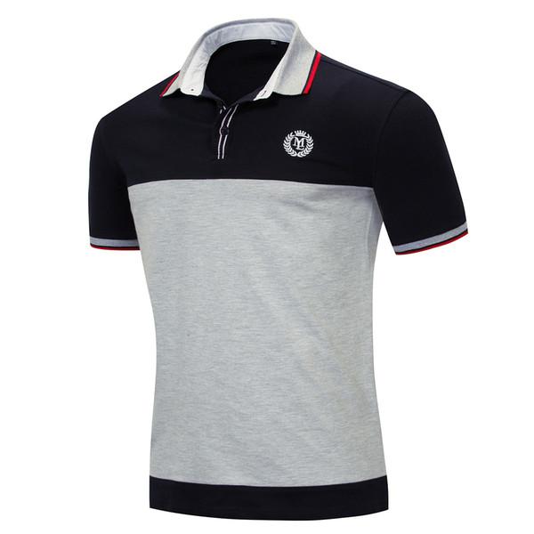 T-shirt Polo Designer verão Homens da moda de manga curta Homens clássico da camisa T dos homens bordados roupa Outfit 2 cores M-3XL Tamanho