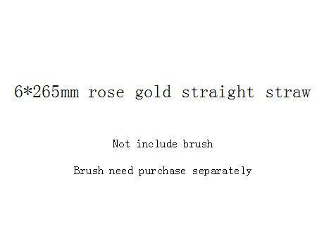 ارتفع 6 * 265mm قش الذهب على التوالي