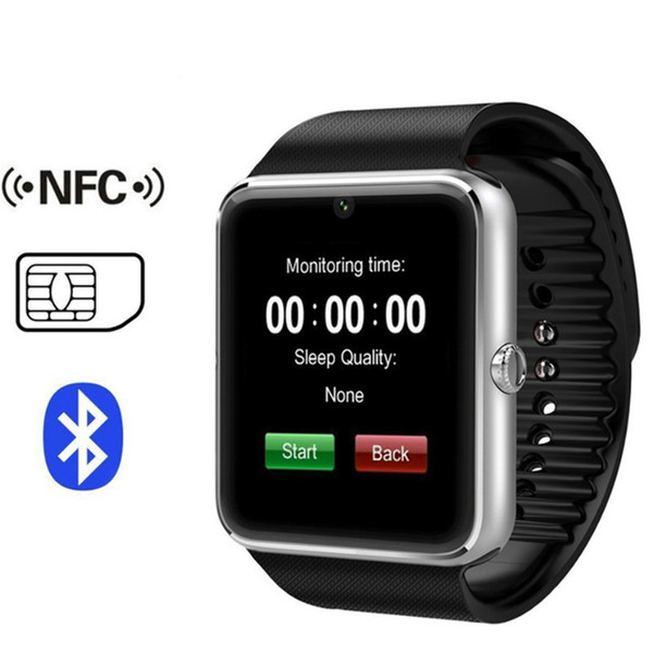 Gt08 bluetooth mart watch with im card lot and nfc health watch for android am ung martphone bracelet martwatch