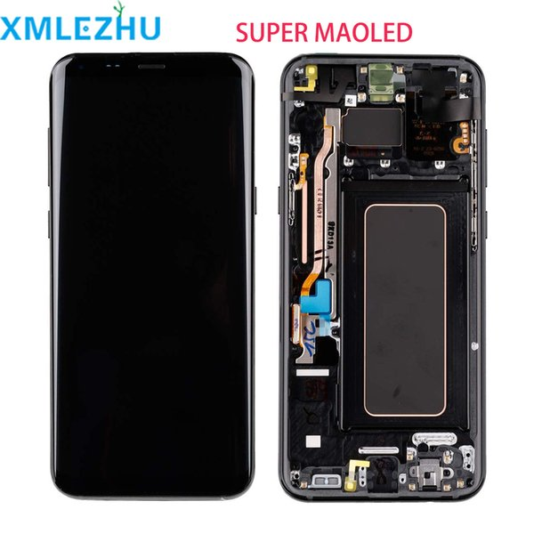 AMOLED LCD Display For Samsung Galaxy S8 Plus G955 Tocuh Screen Digitizer Assembly OEM LCD For Samsung S8 With Frame