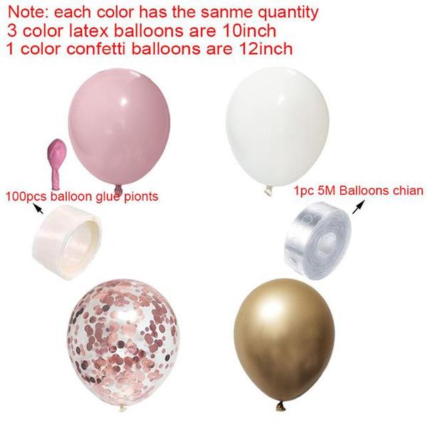 розовый набор из розового золота