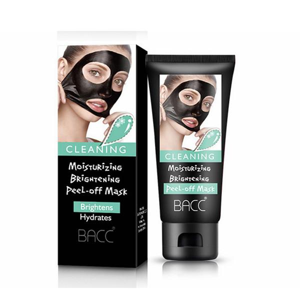 Blackhead Remover Moisturising Keratin Repair Bamboo Charcoal Hydrating Face Clean Mask Peel Off Black Facial Mask RRA1408
