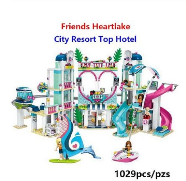 best selling 01068 Friends Heartlake City Resort 41347 Top Hotel Kit de bloques de construcción para niños Juego Juguetes Divertidos para niñas Navidad