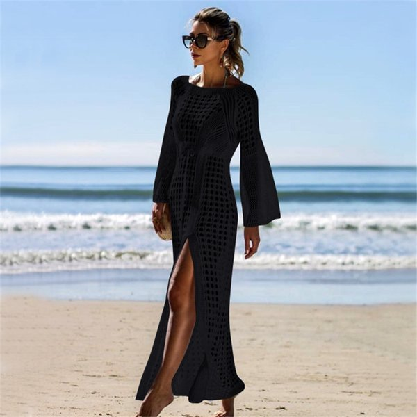 Copriscarpe lunghe da donna Coprivasi bikini divisi sciancrati Ups Beach Boho Long Dresses Rush Guards