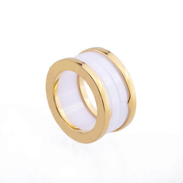 Großhandel hochwertige Spirale schwarz-weiß Keramikring Markendesign Versprechen Ringe Titan Stahl Paar Ring für Männer und Frauen geeignet