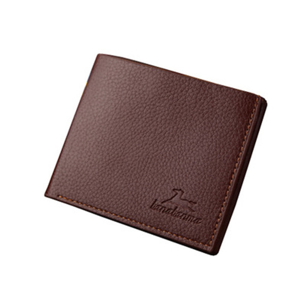 PU Leather Wallet Purse Concise Wearable for Men Boys Teen Gift Fashion Multi Color Position Money Clip