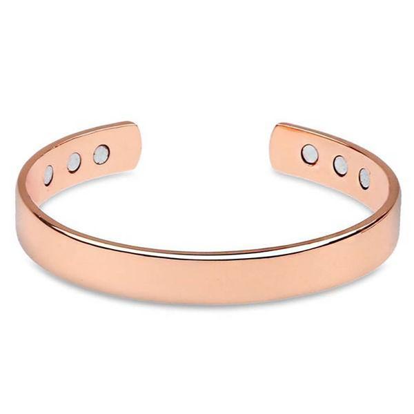 Bracelet unisexe en laiton magnétique de mode bracelet en or rose guérissant la thérapie bio soulagement de la douleur arthritique ouvert