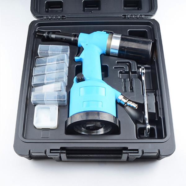 industry grade M3-M12 rivet nut puller air riveter automatic wind ram rivet nut tool auto pneumatic riveting plastic case free shipping