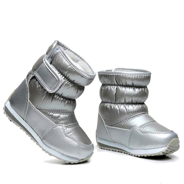 Children's Rubber Boots For Girls Boys mid-calf bungee lacing snow boots waterproof girls boot sport shoes fur lining kids boot CJ191213