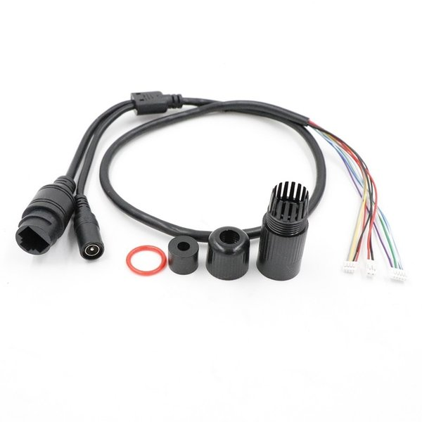 Terminlas ile CCTV POE IP ağı Kamera PCB Modülü Video güç kablosu, 70cm uzunluğunda su geçirmez kablo, RJ45 dişi konnektörler