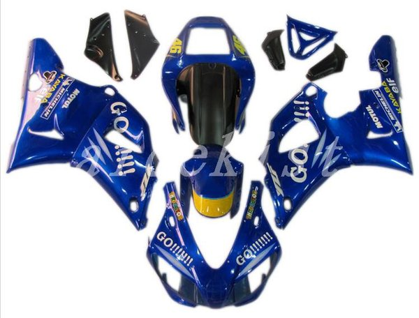 New ABS motorcycle bike Fairing Kits Fit For YAMAHA YZF-R1 98 99 YZF1000 1998 1999 R1 fairings bodywork set custom cool blue GO!!!